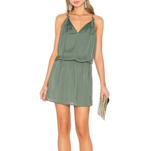 BB DAKOTA 💚 Kelving Drop Waist Army Green Dress S